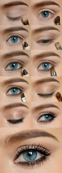 Eye make up step by step - how to put make-up on your .- Make-up tips eye make. - Eye make up step by step – how to put make-up on your …- Make-up tips eye make-up step by step - Makeup Hacks, Makeup Trends, Makeup Ideas, Makeup Tutorials, Hair Tutorials, Makeup Designs, All Things Beauty, Beauty Make Up, Skin Makeup