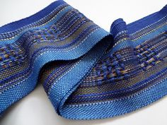 handwoven beautiful blues symphony scarf by masonke on Etsy, $52.00