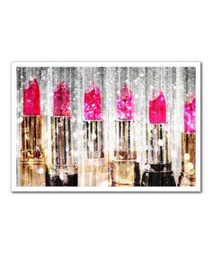 This 'Lipstick Collection' Print by Oliver Gal is perfect! #zulilyfinds
