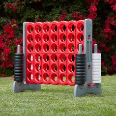 Grandma Quotes Discover Jumbo Four-To-Score Giant Game-Indoor/Outdoor Connect - Red and Gray Diy Yard Games, Lawn Games, Backyard Games For Kids, Outdoor Games For Adults, Field Day Games, 4 In A Row, Outside Games, Giant Games, Red And Grey