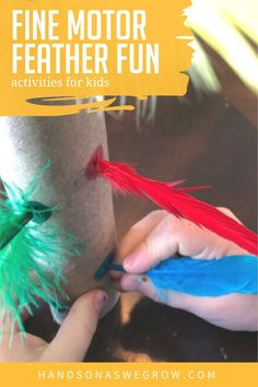 Teach colors, learn numbers, explore sensory play, get creative and work on important fine motor skills with these 7 simple and fun feather activities for toddlers and preschoolers. Fun Activities For Toddlers, Gross Motor Activities, Sensory Activities, Hands On Activities, Sensory Play, Teaching Colors, Toddler Preschool, Cool Baby Stuff, Motor Skills