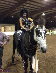 Kiss Horse - Halloween Costume Contest via @costumeworks. 2nd Place for Best Pet Costume 2012.