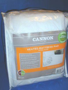 New CANNON Automatic Heated Mattress Pad KING SIZE #BIDDEFORD