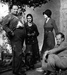 Frida Kahlo, Diego Rivera, Serguei Eisenstein.