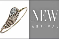 Look what's NEW! This angel wing bracelet gives you the look of a bangle with a hinged closure for easy wear. Wear this bracelet alone or layered with others for a relaxed boho style. Just $20  #justjewelry #jewelry #fashionjewelry #fashionaccessories #holiday #wishlist #new #angelwing #gifts #bracelet