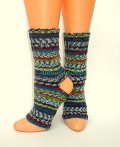 Yoga socks.Hand knitted yoga socks.Yoga socks от mittenssocksshop