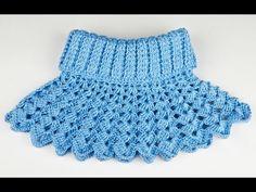 Crochet - Crochet Tight Join As You Go Method Col Crochet, Crochet Hooded Scarf, Crochet Collar, Crochet Scarves, Crochet Yarn, Crochet Clothes, Crochet Shawl, Crochet Neck Warmer, Easy Crochet Projects