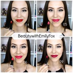 Rimmel Lasting Finish lipsticks by Kate Moss + Lip swatches! 01, 05, 06 and 09
