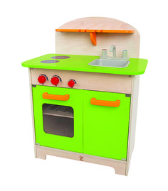 Toy Kitchen Sets - Hape Playfully Delicious Gourmet Kitchen Wooden Play Set Green * More info could be found at the image url. Kitchen Gourmet, Kitchen Sets, Kid Kitchen, Green Play, Green Toys, Kitchenette, Kids Wooden Play Kitchen, Hape Toys, Cool Gifts For Kids