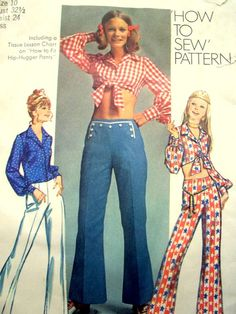 Midriff blouses...early 1970s