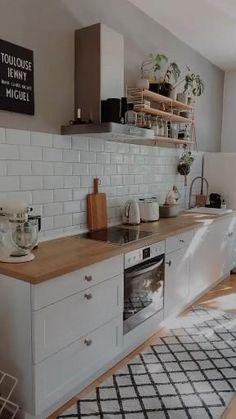 Kitchen Room Design, Kitchen Cabinet Design, Modern Kitchen Design, Home Decor Kitchen, Interior Design Kitchen, Home Kitchens, Open Cabinet Kitchen, Small Kitchen Decorating Ideas, Kitchen Ideas For Small Spaces