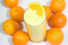 A  mistura de suco de laranja com leite é uma batida de consistência mais encorpada, nutritiva, rica em cálcio, proteínas e vitamina C. Além de saborosa é muito refrescante!