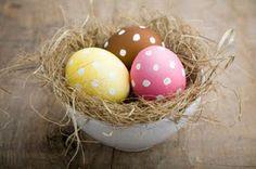 Polka-Dot Easter eggs