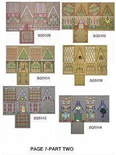 Printable Little Glitter Houses | Printable Glitter Houses | Putz Houses