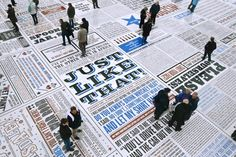 Image result for newspaper art installation