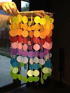 Люстра из бумажных кружочков своими руками, handmade