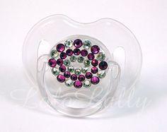 Baby Bling Fuchsia and Diamond Swarovski Crystal by LoloLally, $17.00