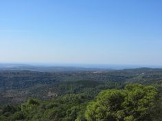 At the south-west side of the mountain and the Mediterranean Sea