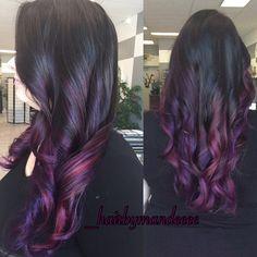 I always have so much fun when @haillmarie comes in! #pravana #joico #purplehair #redken #ombrehair #purplehair #pinkhair #colorfulhair #cilantrohairspa #behindthechair #modernsalon #hairbymandeeee