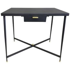 French Mid-Century Modern Neoclassical Desk /Writing Table by Jacques Adnet 1940