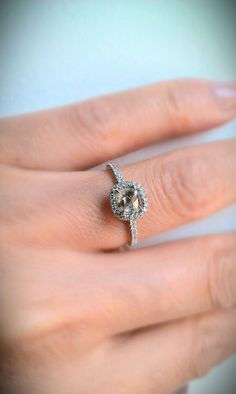 A unique ring combined traditional and nontraditional -Classic rough diamond ring by Diamond in the Rough   #wedding