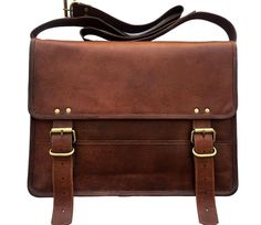 Men Vintage leather laptop office bag Goat Leather Messenger Briefcase  daily use  fashion  clothing e93cf49bddda0