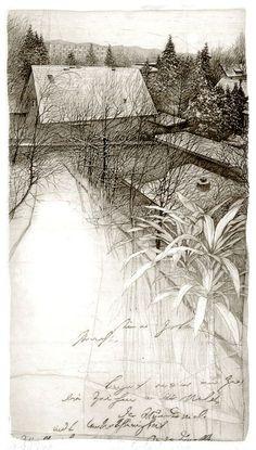 Livio Ceschin(Italian, b.1962) Dalla Finestra di Luciana  2000 etching & drypoint
