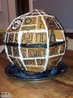 Here's a new take on a gingerbread house. Darth Vader's even looking out the window. ;)