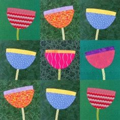 Free Pretty Posy Applique Pattern