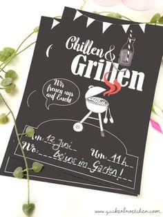"""Freebie - Einladung zum """"Chillen & Grillen"""" Neuer Link: https://frauzuckerbroetchen.com/2017/03/24/einladung-zum-chillen-grillen-freebie/"""