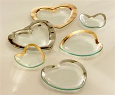 Annieglass | Heart Bowls and Plates