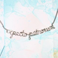 'Expecto Patronum' Harry Potter Spell Necklace // Etsy