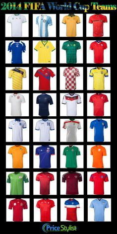 2014 FIFA World Cup #Jersey who's your team this year! I have my bet on Brazil  Argentina =)) Go to official website on matches  info: http://www.fifa.com