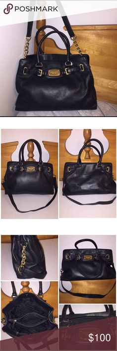 4dcd12945a5784 Michael Kors Hamilton leather handbag Gently used. Michael Kors Hamilton  leather handbag. Soft Black