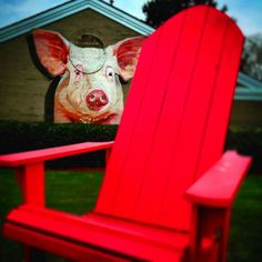 Malbon Brothers may be one of the best kept secrets at the beach for awesome BBQ. Don't let the gas pumps and car wash fool you...this is the real deal! #MalbonBrothers #bbq #pork #iconic #pig #wallmural #art #painting #big #pink #chair #gas #carwash #convenience #store #yum #awesome #delicious #musttry #dive #VirginiaBeach #Virginia #VA #LoveVA #ExploreVA #filtered #pic by jdavidhillery