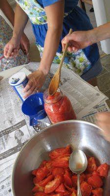 canning together