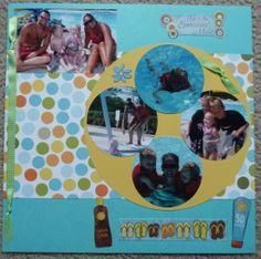 swim lessons/ pool scrapbook page