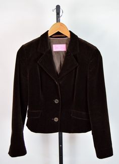 Charles Tyrwhitt Women's Size 10 Brown Velvet Blazer #CharlesTyrwhitt #Blazer
