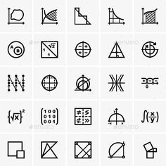 Math Icons — Vector EPS #math #mind • Available here → https://graphicriver.net/item/math-icons/9475116?ref=pxcr