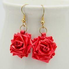 Quilling Tutorial: How to Make a Paper Quilled Rose Paper Quilling Earrings, 3d Quilling, Quilling Patterns, Quilling Designs, Quilling Ideas, Rose Earrings, Diy Earrings, Jhumkas Earrings, Silver Earrings