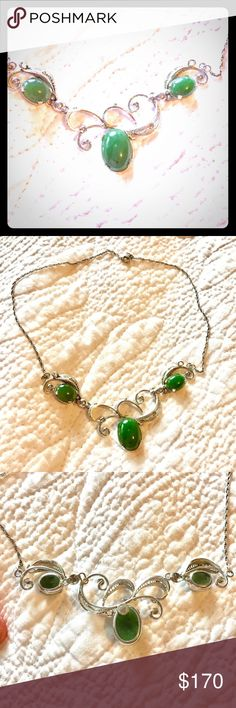Spotted while shopping on Poshmark: 🎉HP 3/20🌟VTG🌟Sorrento Sterling n jade necklace! #poshmark #fashion #shopping #style #Vintage #Jewelry