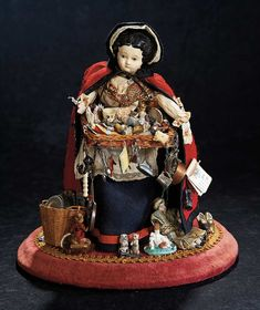 The Stein am Rhein Museum Collection: 260 German Paper Mache Lady as Peddler Doll