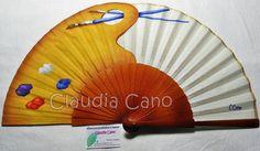 Abanicos pintados a mano por Claudia Cano: Stock abanicos