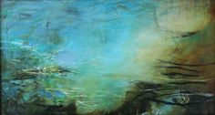 Pool of Siloam, acrylic and mixed media on canvas on board. www.kymbarrett.com