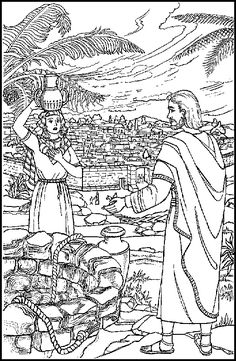 The Woman of Samaria -ABDA ACTS coloring page