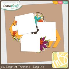 30 Days of Thankful Freebies from Gotta Pixel Digital Scrapbooking Store created by Manda Lane Scraps - Day 20