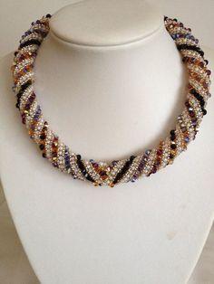 Russian Spiral Swarovski Necklace Hand Threaded by TwinklingGems