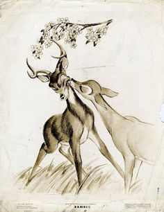 Bambi and Faline <3 This reminds me of something so cute. :)