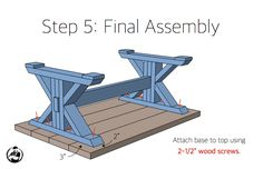Step-by-step DIY plans showing you exactly how to build a trestle coffee table for under Diy Outdoor Furniture, Diy Furniture Plans, Diy Furniture Projects, Diy Wood Projects, Woodworking Projects, Woodworking Plans, Woodworking Mallet, Woodworking Techniques, Rustic Furniture