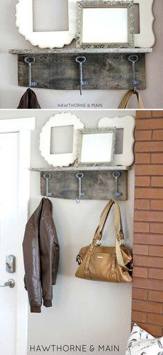 DIY Craft Projects for the Home Shabby Chic Style   Barn Wood Shelf by DIY Ready at http://diyready.com/diy-shabby-chic-decor/